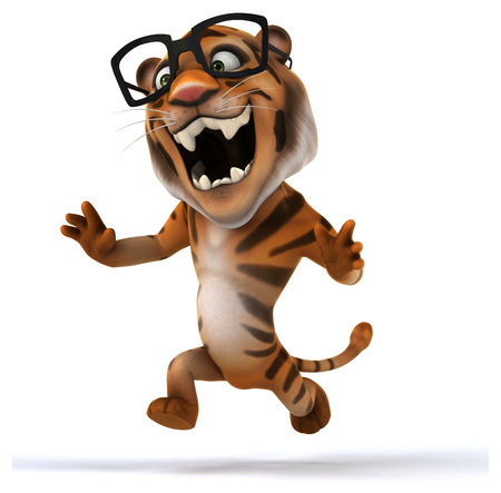 Fun tiger Stock Photo