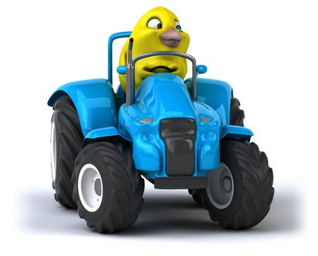 yellow tractors: Yellow bird