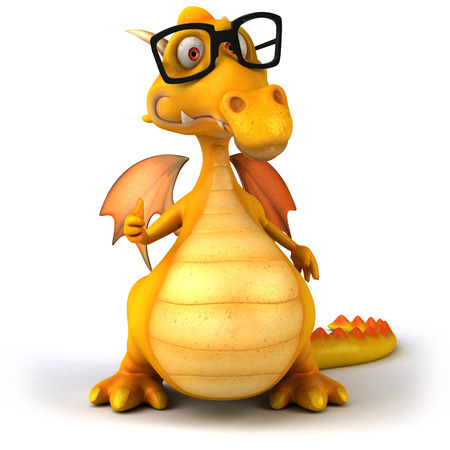 Dragon with glasses gesturing thumbs up