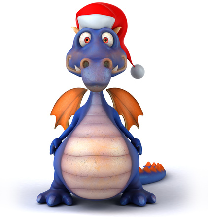formalwear: Dragon with santa hat