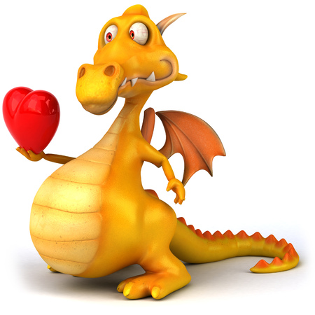 Dragon with heart