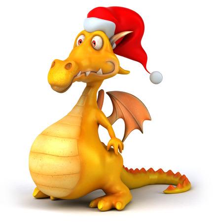 Dragon with santa hat