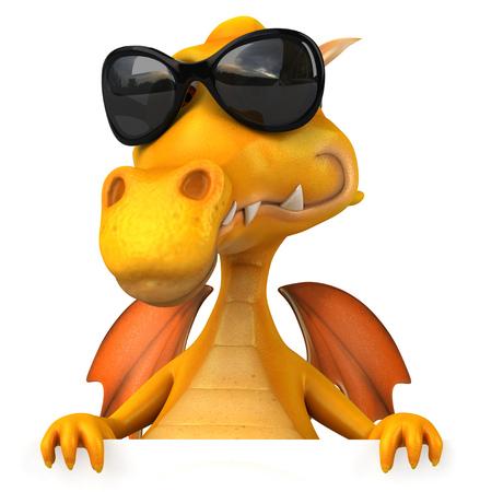 legendary: Cartoon dragon with sunglasses