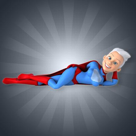 futuristic woman: Super woman Stock Photo