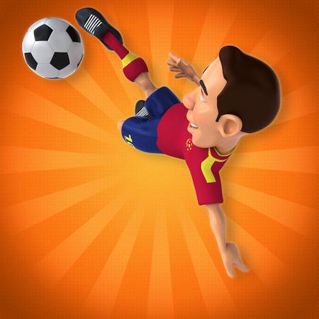foot ball: Football player Stock Photo