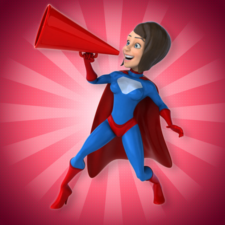 babe: Super woman Stock Photo
