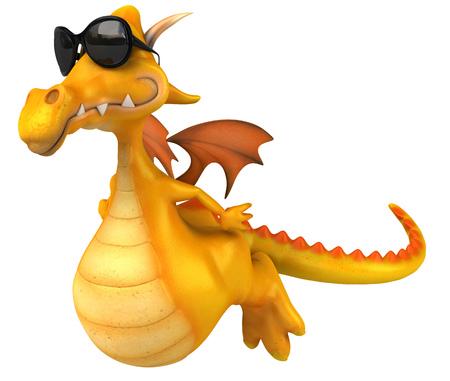 Cartoon dragon with sunglasses