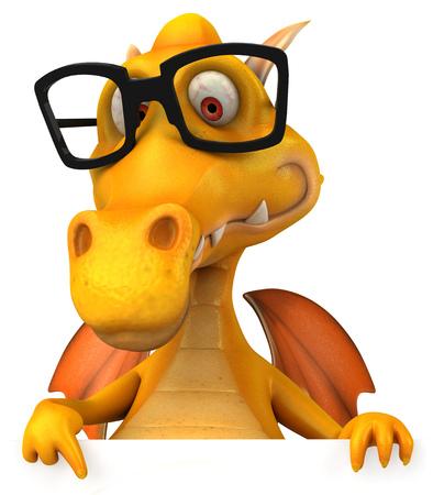 Dragon wearing glasses Stock Photo