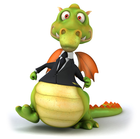 Dragon wearing a suit