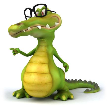 Crocodile wearing glasses