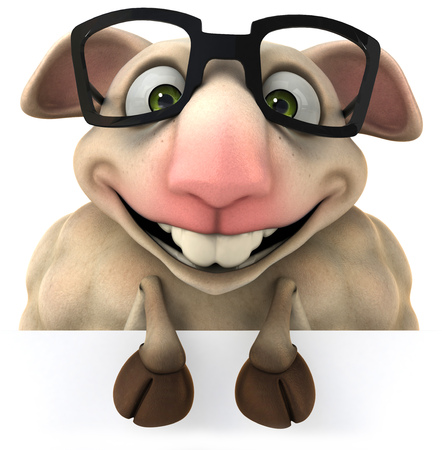 Cartoon sheep with glasses
