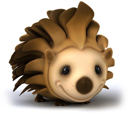 Cartoon hedgehog smiling Banco de Imagens