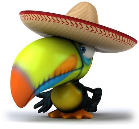Toucan with a sombrero Foto de archivo