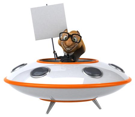 space invader: Fun squirrel