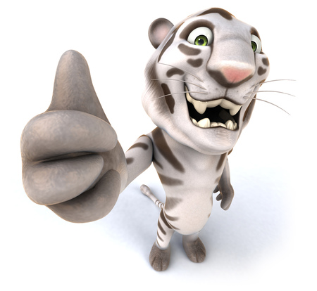 Tiger gesturing thumbs up