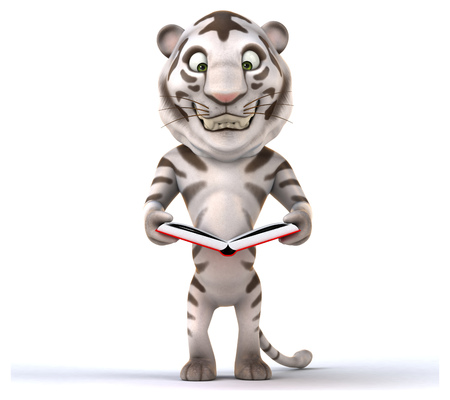 front of the eye: Fun tiger Stock Photo