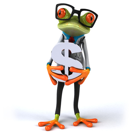 doctor with dollars: Fun frog