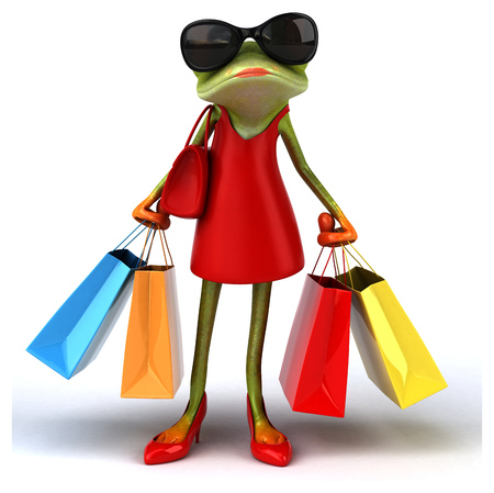 ladies shoes: Fun frog