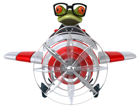 aerial animal: Fun frog