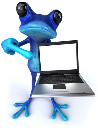 blue frog: Blue frog
