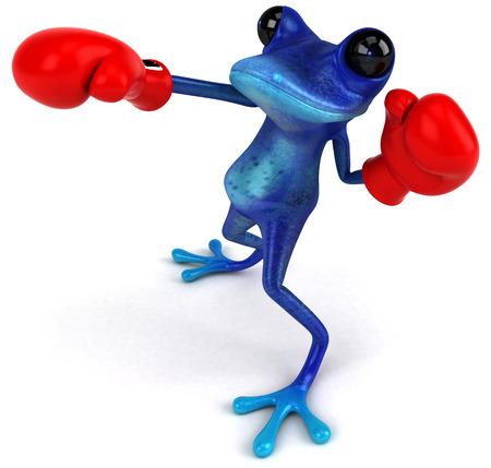 poison dart: Blue frog