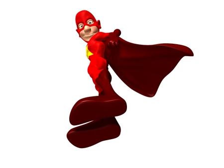 Cartoon superhero posing