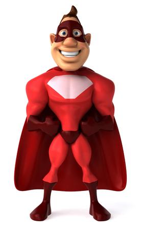 length: Cartoon superhero standing