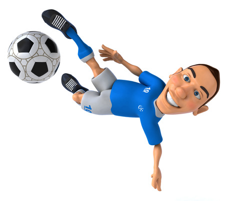 jersey: Cartoon soccer player with football