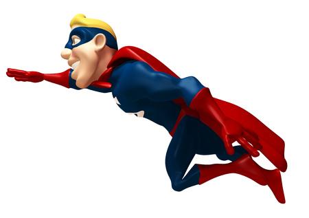 length: Cartoon superhero flying