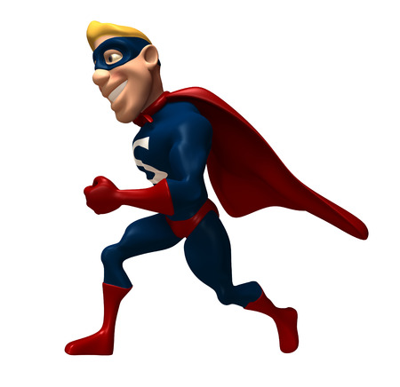 Cartoon superhero walking Banco de Imagens - 80538606