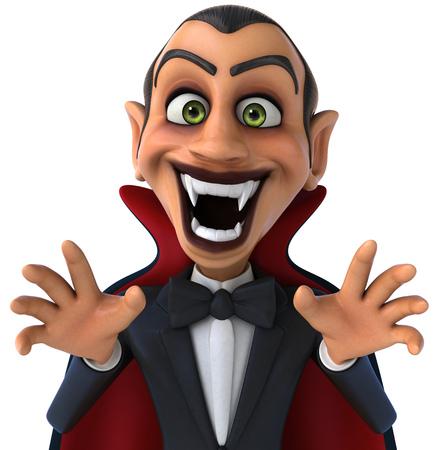 Cartoon vampire baring fangs Stock Photo