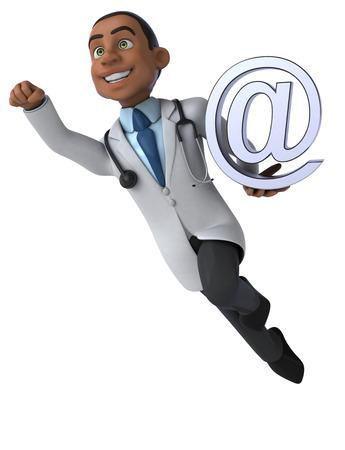 heart monitor: Fun doctor Stock Photo
