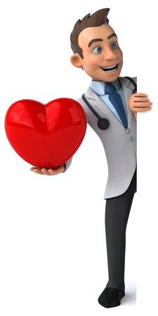 health and wellness: Fun doctor Stock Photo