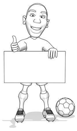 one team: Football player Stock Photo