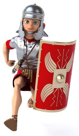 ancient roman: Roman legionary soldier Stock Photo