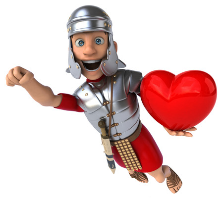 sword and heart: Roman soldier