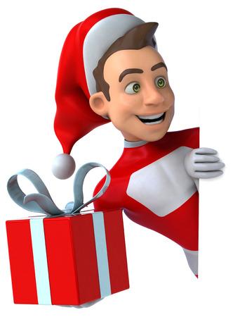Fun santa claus Stock Photo