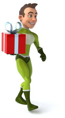 birthday suit: Fun superhero