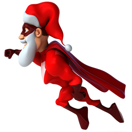 toughness: Super santa Stock Photo