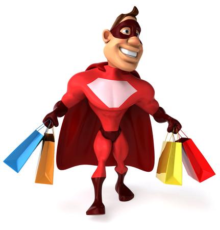 muscular build: Superhero Stock Photo