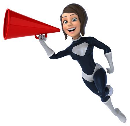 futuristic woman: Fun superhero