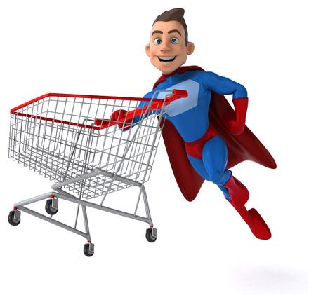 muscular build: Fun superhero
