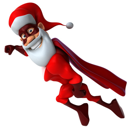 Super santa Stock Photo