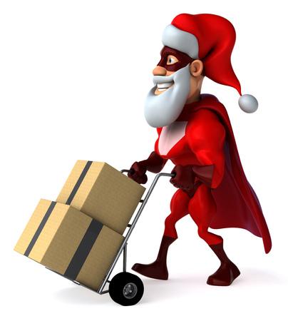 Super santa claus Stock Photo