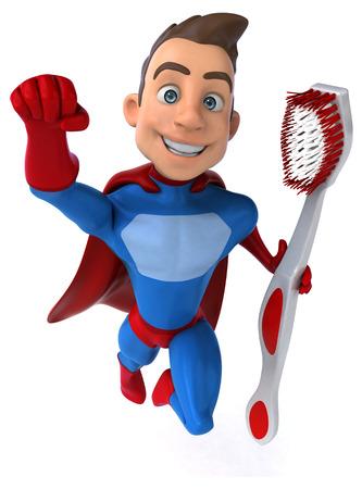 dientes con caries: Fun superhero