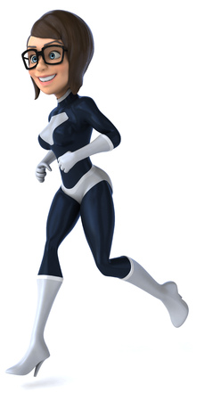 futuristic girl: Fun superhero