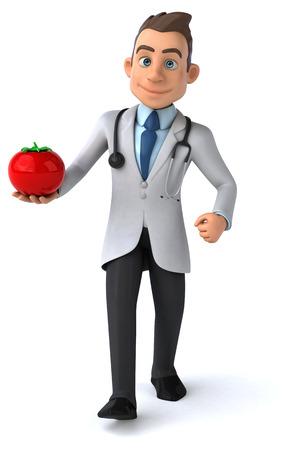 examine: Fun doctor Stock Photo