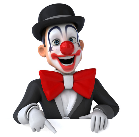 bowler hats: Fun clown