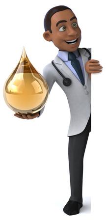 doctor fish wellness fish: Fun doctor Stock Photo