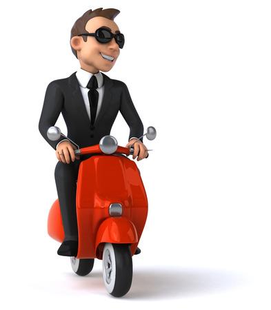 hombre de negocios divertido Foto de archivo